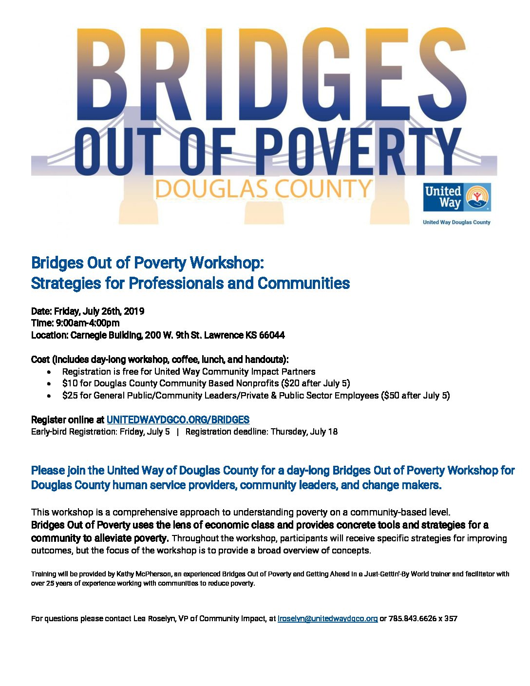 United Way offering workshop to fight poverty